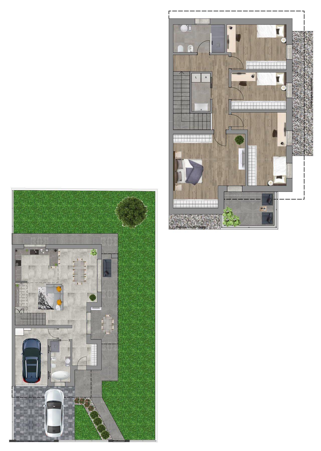 Planimetria nuova costruzione Borgoricco Padova porzione est, Fam Real Estate