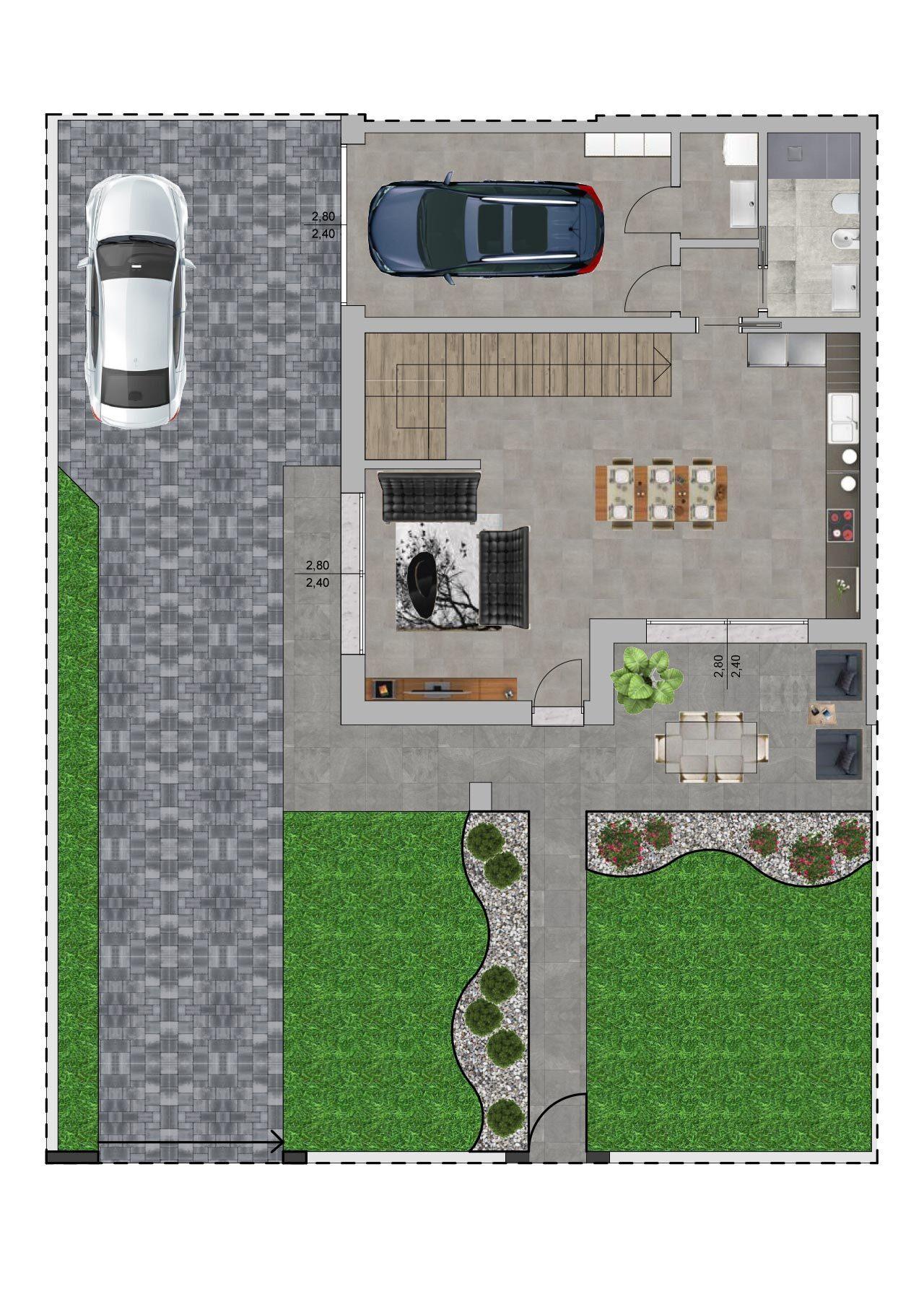 Planimetria nuova costruzione Massanzago Padova porzione 1 piano terra, Fam Real Estate