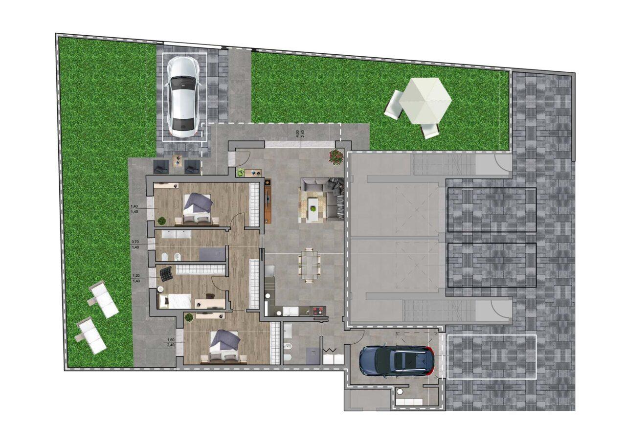 Condominio Noale Venezia planimetria unità 1, Fam Real Estate