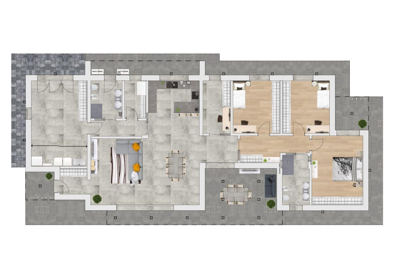 Planimetria nuova costruzione casa Pianiga Venezia, Fam Real Estate