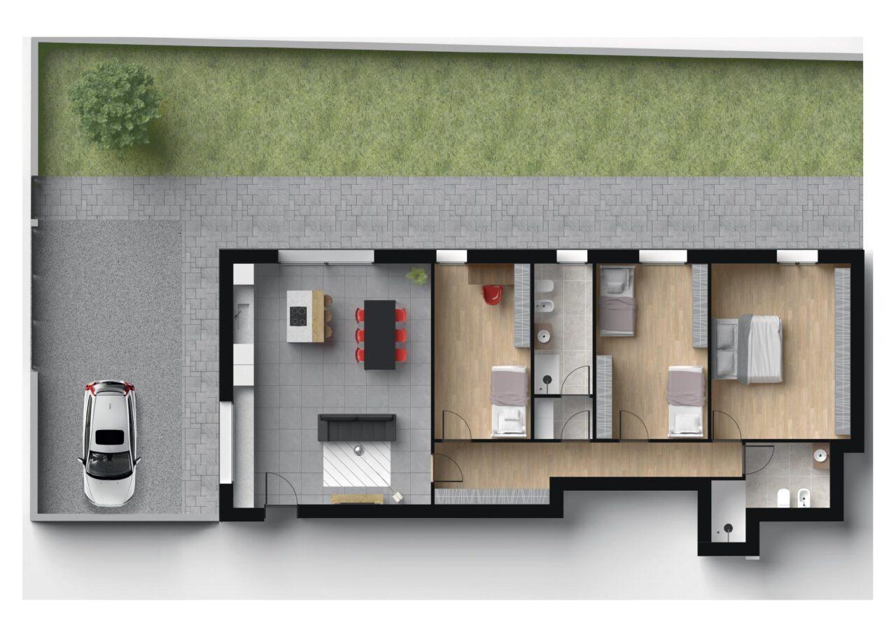 Planimetria Nuova Costruzione Vigodarzere Padova Unità C1, Fam Real Estate