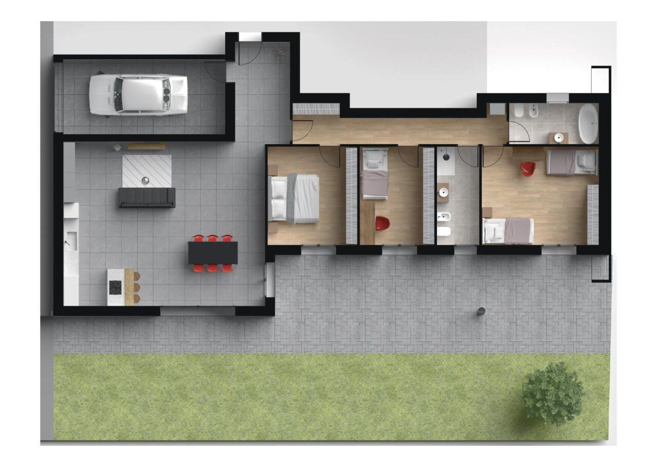 Planimetria Nuova Costruzione Vigodarzere Padova Unità C2, Fam Real Estate