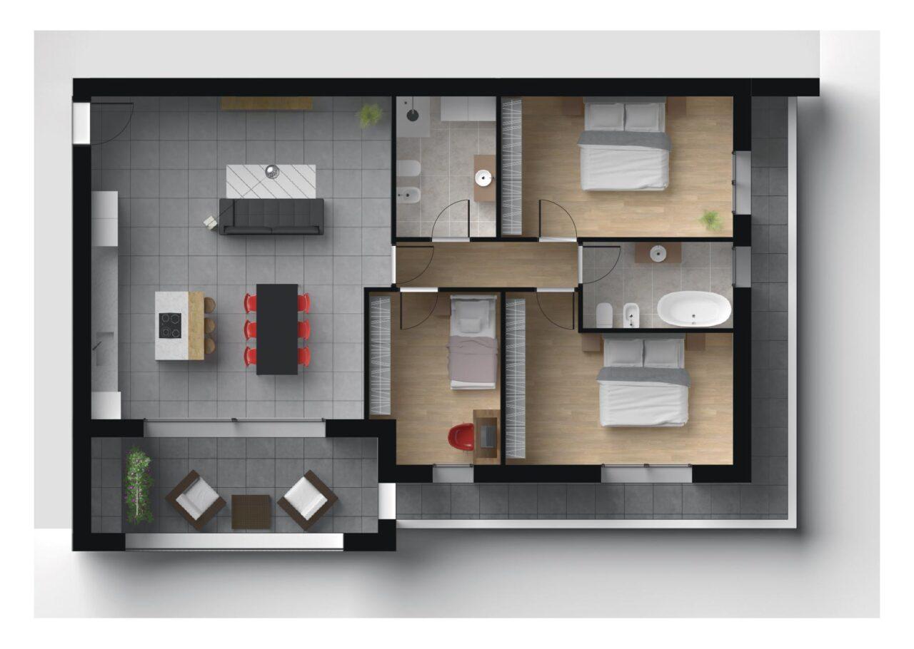Planimetria Nuova Costruzione Vigodarzere Padova Unità C6, Fam Real Estate