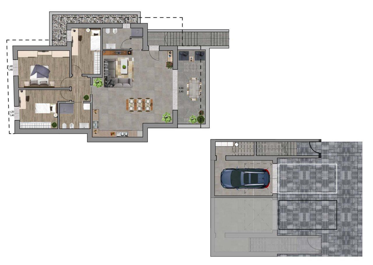 Condominio Noale Venezia planimetria unità 3, Fam Real Estate