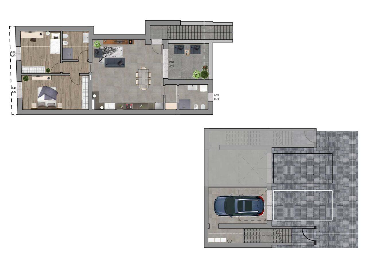 Condominio Noale Venezia planimetria unità 4, Fam Real Estate