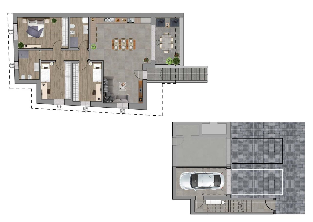 Condominio Noale Venezia planimetria unità 5, Fam Real Estate
